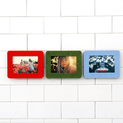 Korean style fashion solid color mini small wool felt desktop 5 photo frame picture frame decoration 3x5 inch free shipping(China (Mainland))