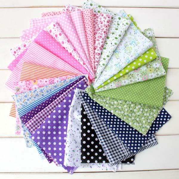 20 pcs diff rentes motif patchwork tissu bricolage v tements 17 25 cm petite tissu de coton - Le petit jardin quilt pattern calais ...