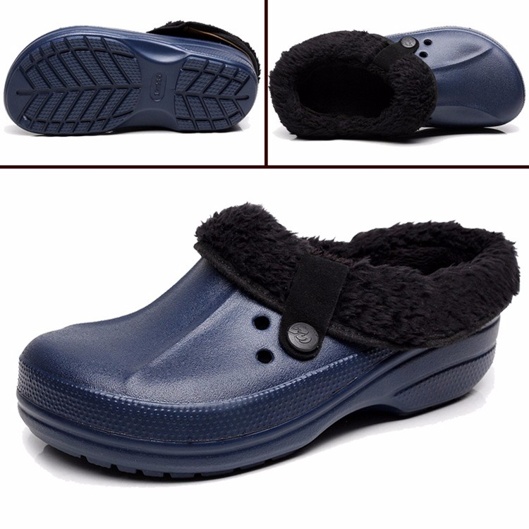 Women's Winter Clogs Men's Garden Shoes EVA Waterproof Slippers Clogs For Men Women Clog Man Candy Color Warm 36-44