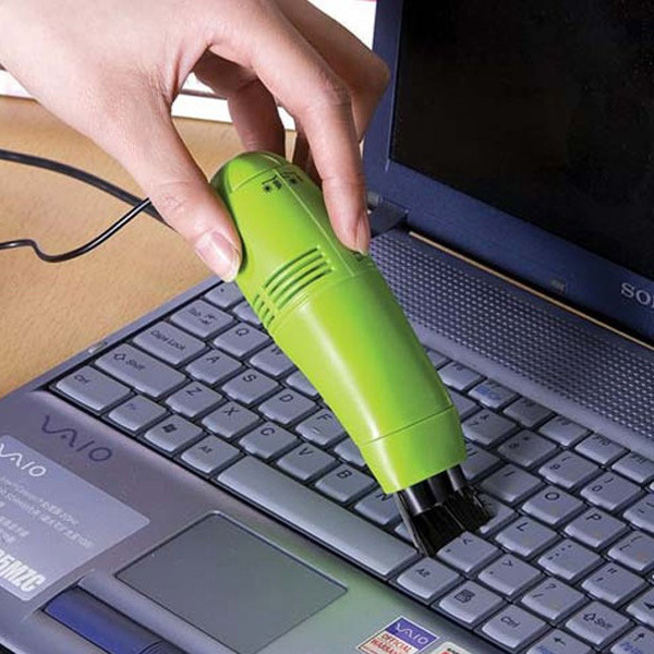 New Mini Computer Laptop LED USB Vacuum Keyboard Cleaner Dust Collector Free Shipping(China (Mainland))
