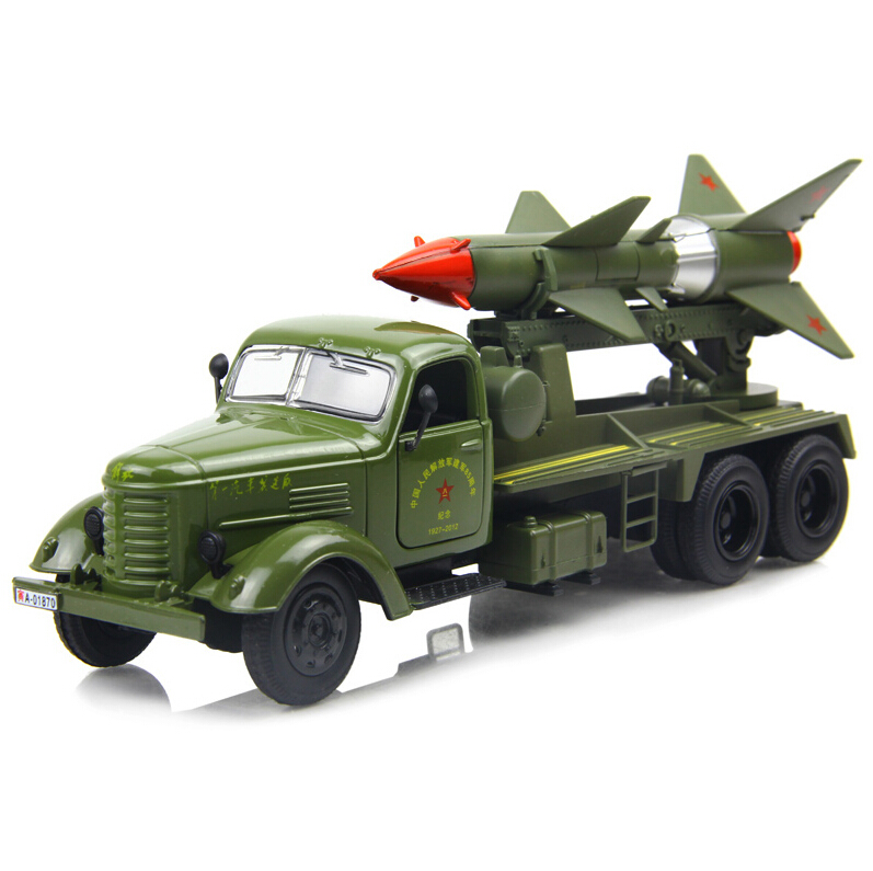 Military vehicles toys Old liberated missile truck model car ran from the military model alloy car(China (Mainland))