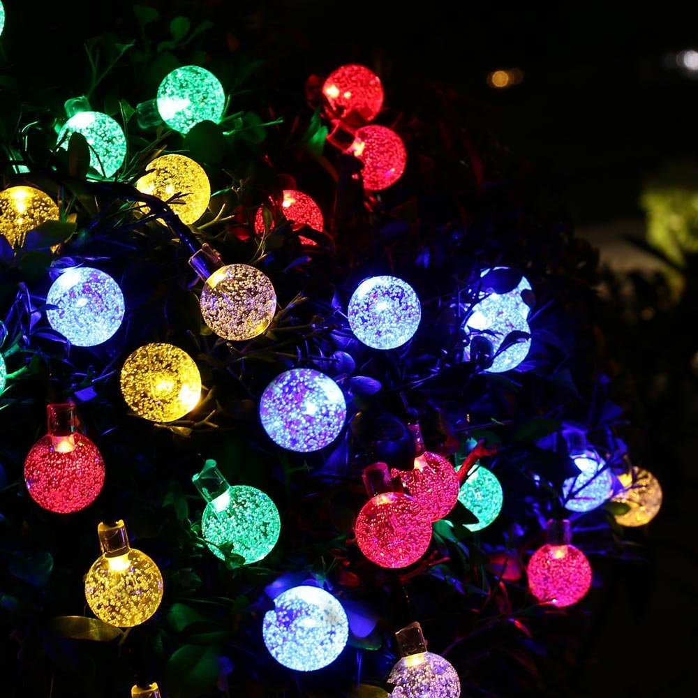 Led Christmas String Lights Manufacturer China : Outdoor Lighting 30 LED Solar String Fairy Lights Solar Power Crystal Ball Globe Lamp For Garden ...