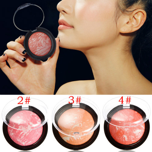 New Arrival Soft Pressed Natural Face Blush Blusher Powder Palette Nude Makeup Blush Make Up Tool Supply FE#8(China (Mainland))