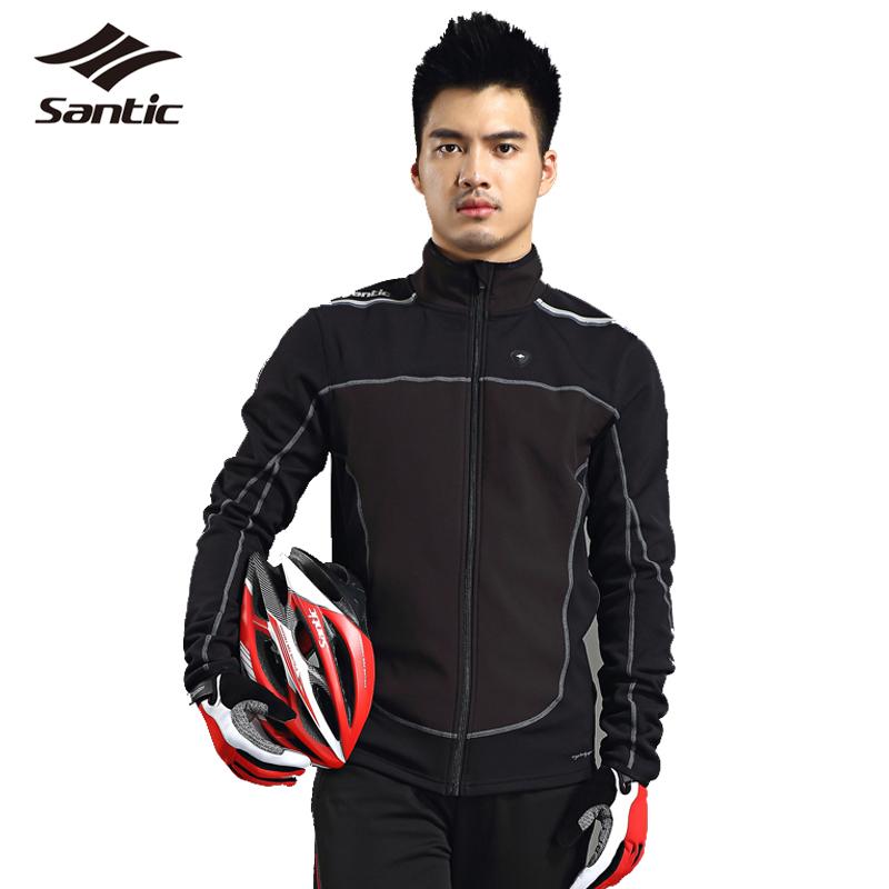 Santic Men Cycling Jackets Long Sleeve Winter Windproof Outdoor Sport Bike Jacket MTB Road Bicycle Jersey Skinsuit Clothing Male