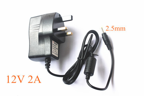 12V 2000mA AC - DC UK Adapter wall Charger for Tablet MID free shipping