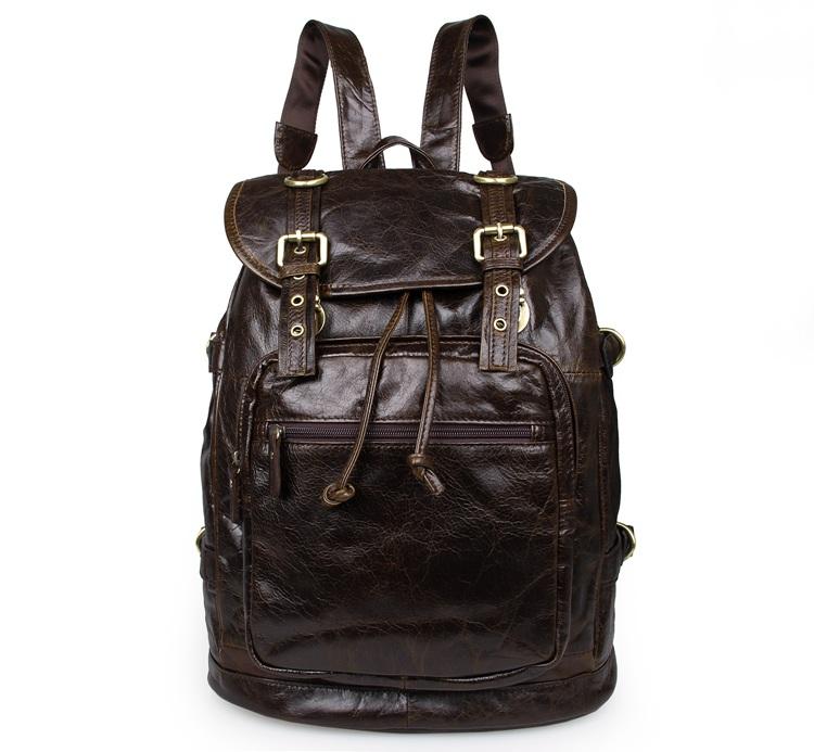 Здесь можно купить  Free Shipping JMD Vintage Preppy Style Genuine Leather Unisex Backpacks Satchel Bag # 6085C-1  Камера и Сумки