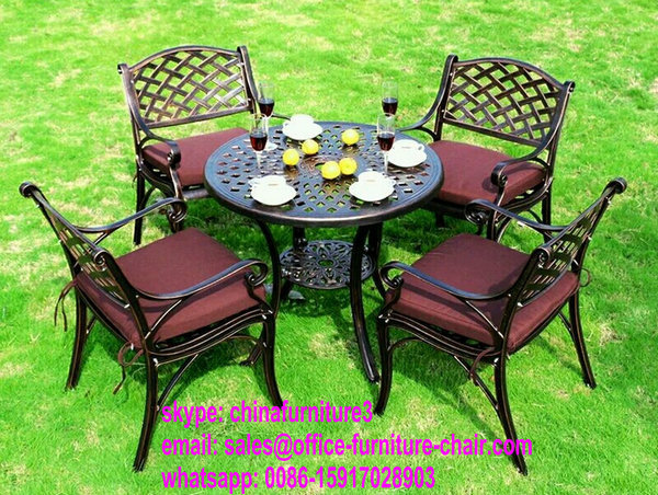 durable metal furniture cast aluminium used patio furniture chairs and