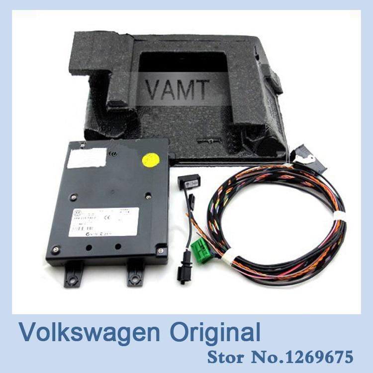 OEM VW car styling 9W2 Bluetooth Module+Harness With Microphone For VW Golf MK6 VI Jetta MK5 V Passat B6 1K8 035 730 D(China (Mainland))