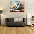 Large classic flower gift canvas prints cheap modern art printed painting decorative wall picture for living