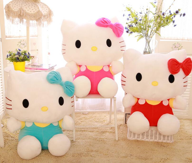 20cm Hello Kitty plush toys sitting height doll birthday gift for children valentines KT cat(China (Mainland))
