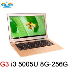 8GB Ram 256GB SSD Ultrathin Dual Core i3 5005U Fast Running Windows 8.1 system Laptop Notebook Computer 13.3inch