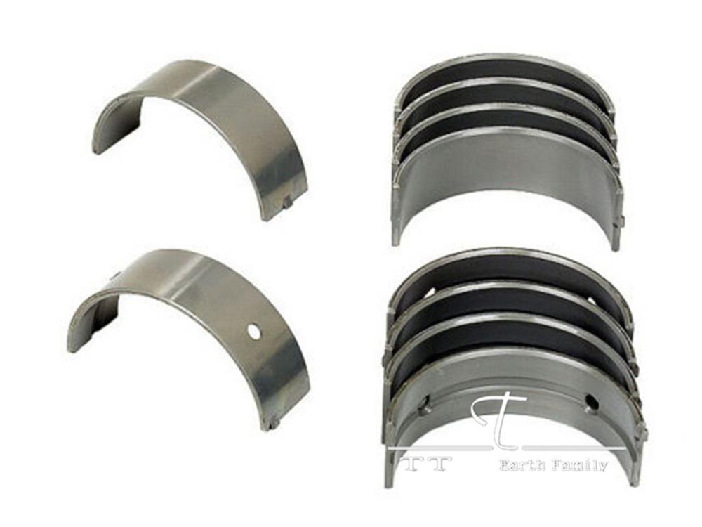 8pcs/set Motorcycle Engine Parts For Honda VFR400 VFR21 NC21 +50 Oversize Connecting Rod Crank shaft Bearing