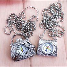 Handbag Vintage Quartz Watches Pocket Watch Key Ring diamond Gift(China (Mainland))