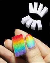 2016 hot sale 8pcs Gradient Nails Soft Sponges for Color Fade Manicure Nail Art Accessories (Size: 2.5cm x 5cm x 2cm)(China (Mainland))