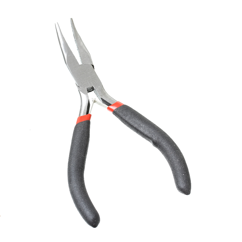 """2016 High Quality Black Stainless Steel Needle Nose Pliers Curved Jewelry Making Tools12.5cm(4 7/8""""),1 Piece(B33701)(China (Mainland))"""