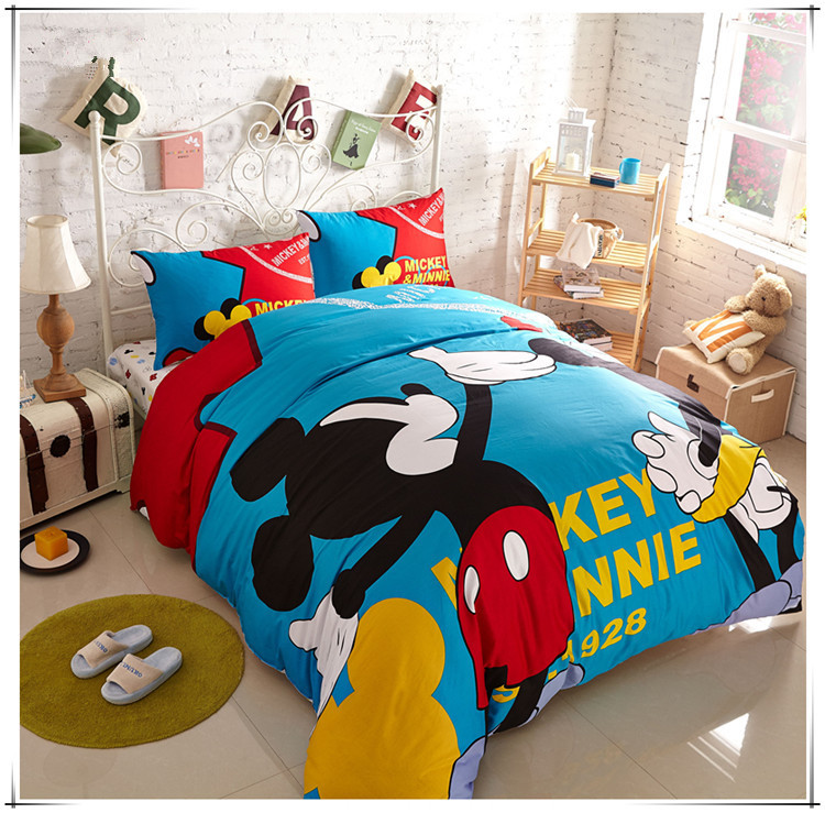 mickey and minnie bedding set queen size mickey mouse