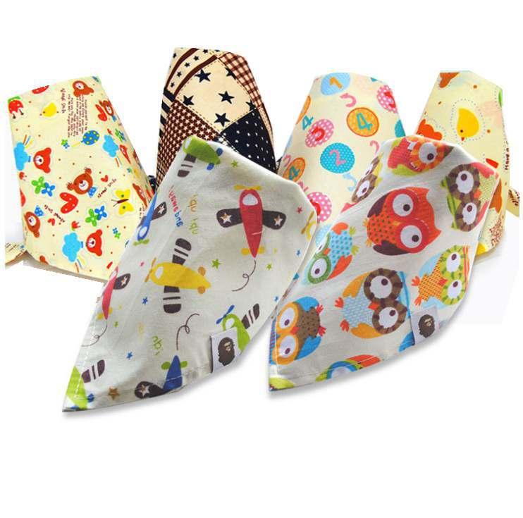 2015 Fashion Baby Kid Toddler Bandana Bibs Saliva Towel Dribble Triangle Boy Girls Cotton Head Scarf