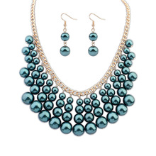 2016 Zinc Alloy Party Trendy Plant Time-limited Top Fashion Necklace/earrings Women Crystal Zinc Alloy Jewelry Sets Se116 Rayli