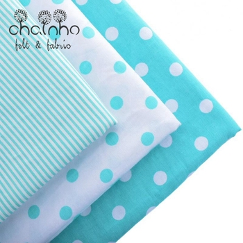 Cotton Fabrics Telas For Hometextile Handmade Sewing Needlework For Shirt Doll Bag Sheet Cloth For 3 Designs Dots Striped40x50cm