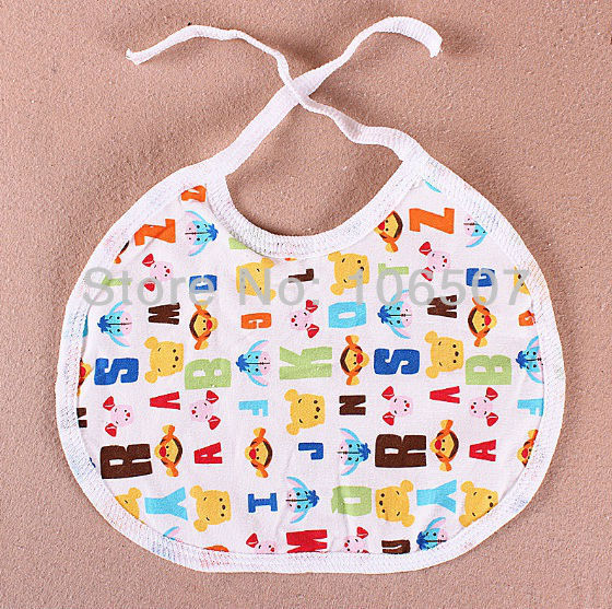 100% cotton multi-colour waterproof baby bibs boys and girls cute and comfortable kids bibs wholesale 0-1 years old baby care