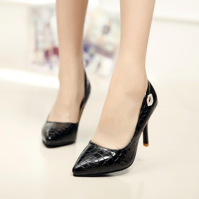 2015 New Fashion Womens Ladies Stiletto High Heels Office Dress shoes Work Court Platform Pumps - min cheng store
