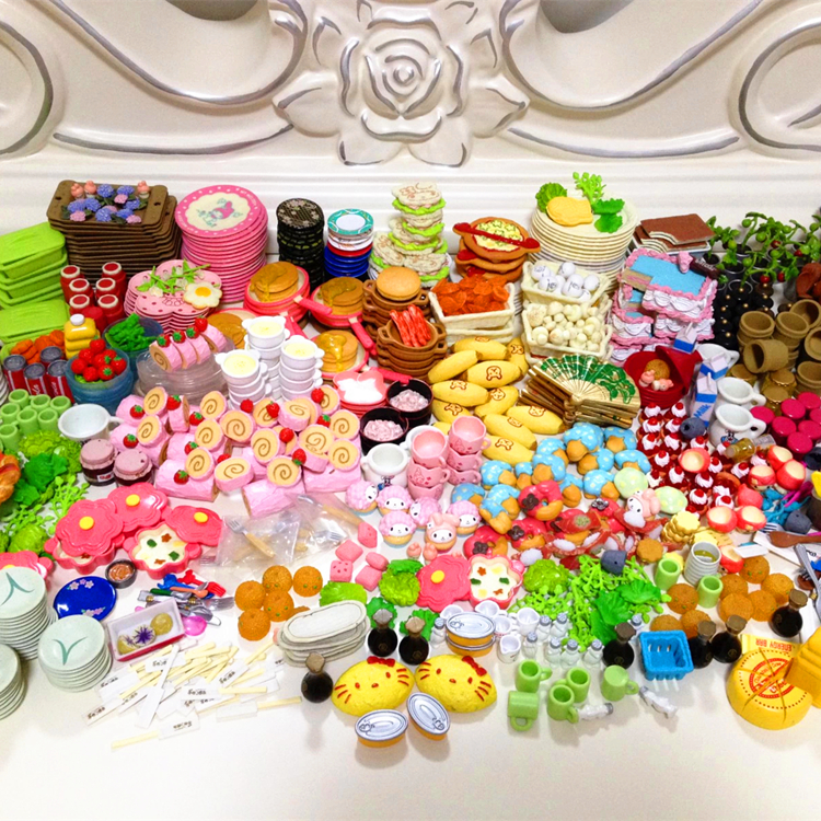 Re Ment Kitchen Set: 36PCS Re-ment Mini Food Tableware Set Dollhouse Miniatures