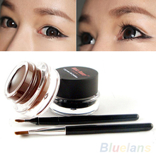 2Pcs/lot Waterproof Cosmetics Tools Eye Liner Makeup Eye Brush Gel Eyeliner 39XN(China (Mainland))
