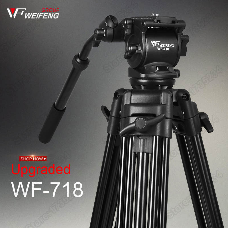 WF718 Professional Video Tripod DSLR Camera Heavy Duty Fluid Pan Head Canon Nikon Sony Camcorder DV - Shenzhen KuLi digital Co., Ltd store