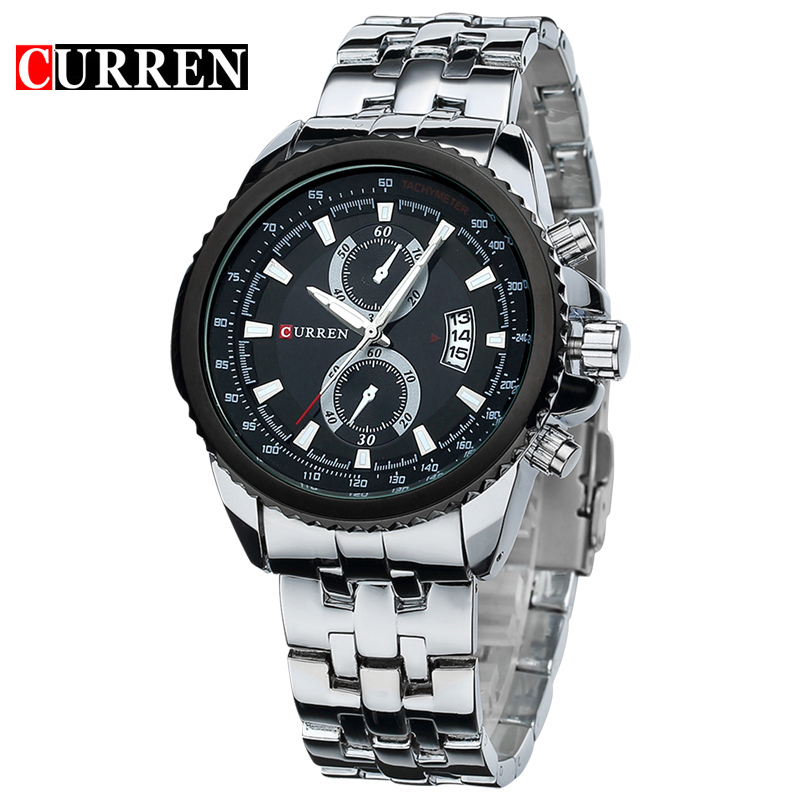 Curren Watch Men Fashion Casual Dress Wristwatch Curren 8082 Date Display Analog Relojes In