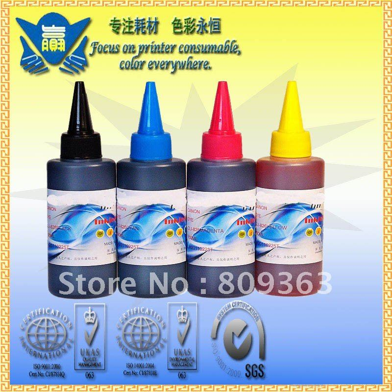 Universal 4 color,4 x 100ml Dye ink for HP 178,920,940,364,564 655 685 ect,refillable ink for HP inkjet printer.Fedex shipping!!(China (Mainland))
