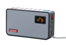 Tecsun ICR-100 ICR100 pocket portable FM radio Receiver with 1G TF/micro SD card digital MP3 player speaker