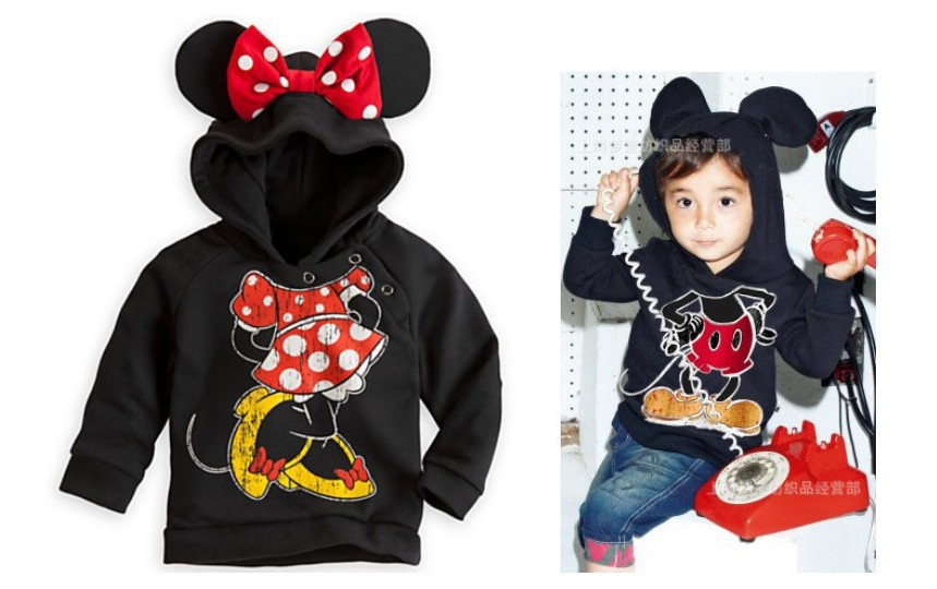 DW0082 free shipping hot sell boys girls Minnie/ Mickey cotton hoodies children cartoon outer coat baby fashion outerwear retail(China (Mainland))