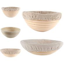 Oval redondo larga Banneton Brotform pan pruebas Proving cesta de mimbre pan(China (Mainland))