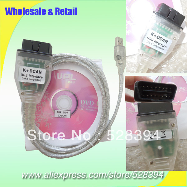 High quality 5pcs k+dcan for DIS SSS GT1 Interface Support K line CANBUS for BMW INPA K Dcan USB Interface HKPAM free shipping(China (Mainland))