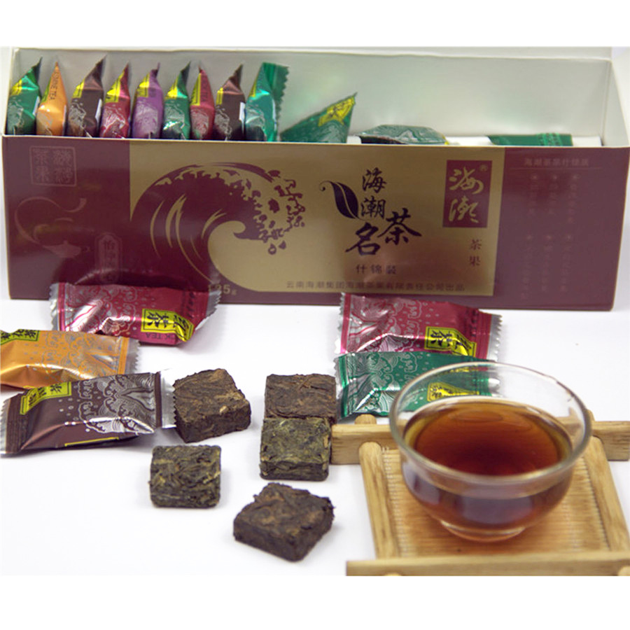 Fast Shipping Chinese Square Shape Tea Mix Flavor 42pcs 100 Pure Matural Organic Flower Tea Slimming