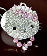 New Hellokitty Jewelry Cute Rhinestone Pendant Chain Big size Necklace yey-79(China (Mainland))