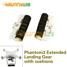 1pair Phantom 3 Extended Landing Gear Elongate Tripod with Anti-collision Cushion Stabilizers 3D Printed UAV Drones Accessories