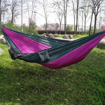 Бесплатная доставка открытом или закрытом парашютом ткань спящая гамак кемпинг гамак высокое качество многоцветный