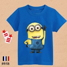 Baby Boys Girls T Shirt Children Clothing Cartoon Despicable Me Minions Clothes children s clothing t