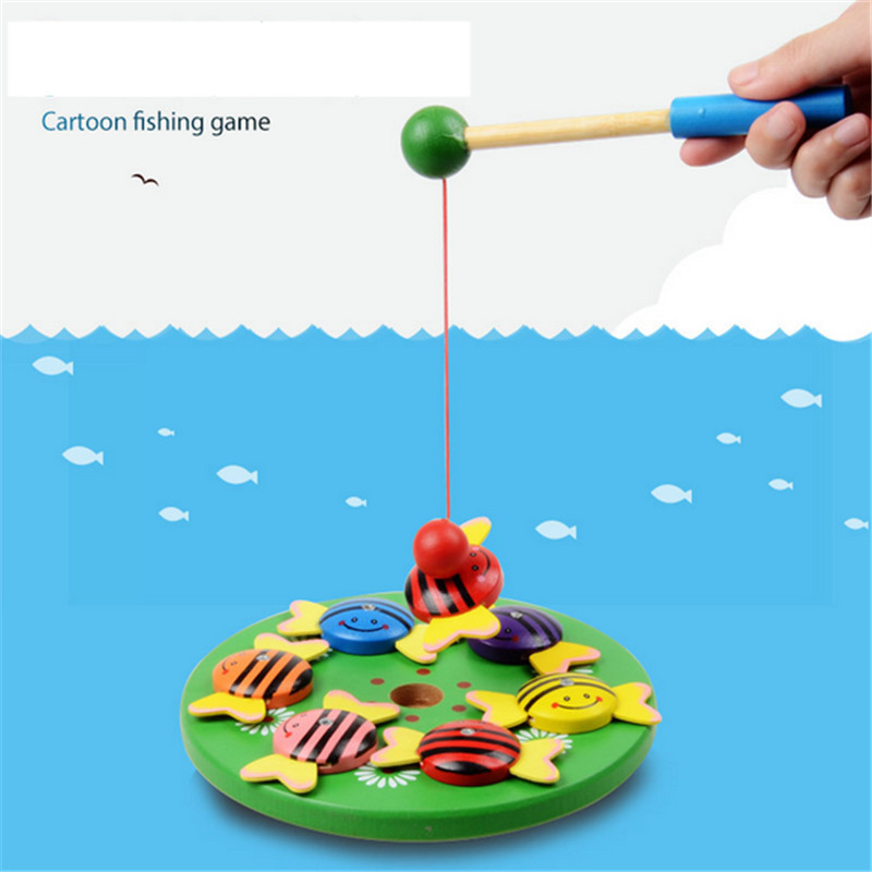 5box/lot Creative 3d wooden animal toys fun parent-child fishing magnet educational early childhood infants and young children<br><br>Aliexpress