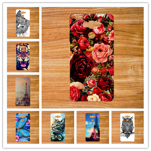 Luxury New Painted Roses flowers owl tiger animals and Eiffel Towers Case For Elephone P9000 p 9000 Phone Case Elephone P9000(China (Mainland))