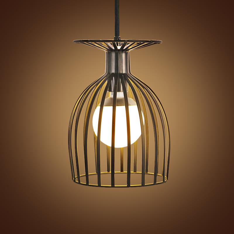 iron pendant light american country style wrought birdcage pendant. Black Bedroom Furniture Sets. Home Design Ideas