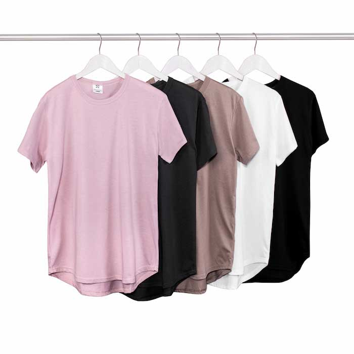 2016 summer t shirt pink black wholesale extended