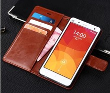 xiaomi mi4 m4 case Leather Case Cover Hight Quality Stand Wallet mobile cover For xiaomi m4 mi4 case