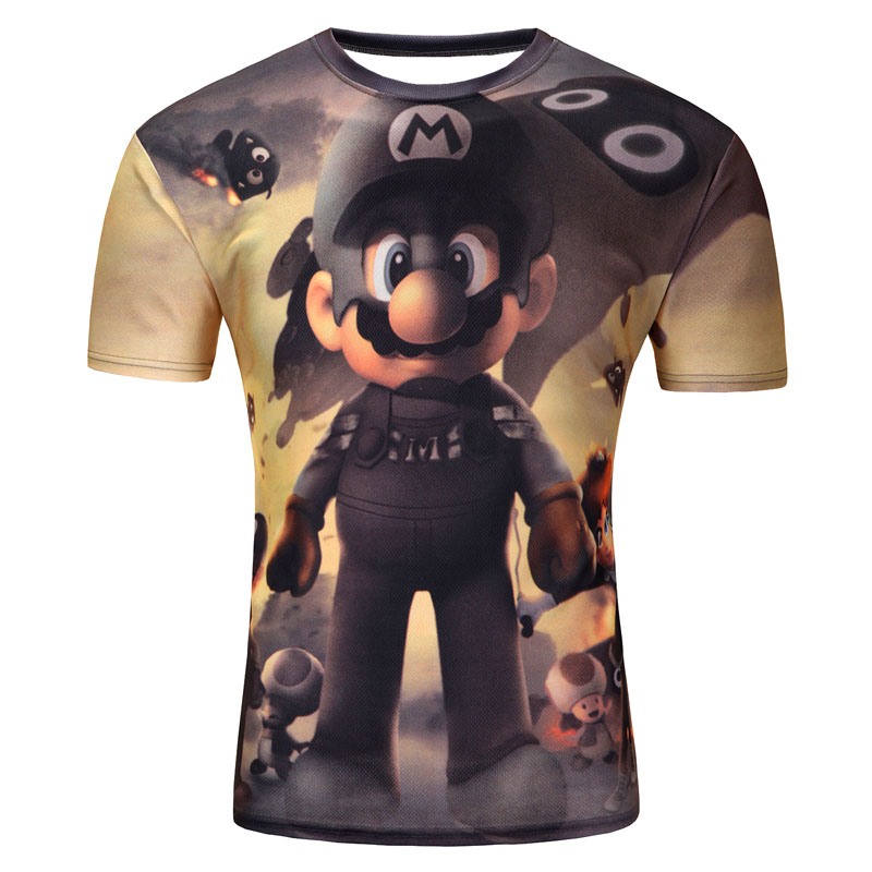 Super Mario Cartoon Character Men t-shirt 3D printed casual O neck short tshirt summer tops unisex tee fashion clothes t shirt(China (Mainland))