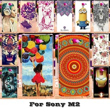 Buy Soft Silicon TPU Plastic Cases Sony Xperia M2 S50H D2303 D2406 D2305 D2306 D2302 dual Aqua Cases Paint Back Covers bags for $1.68 in AliExpress store
