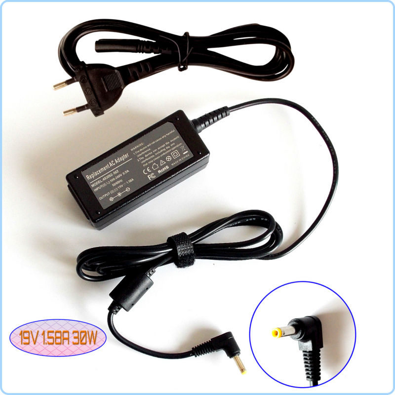 For HP/Compaq Mini 110c-1100DX 110c-1001NR CQ10 EPC NA374AA Laptop Netbook AC Adapter Battery Charger 19V 1.58A(China (Mainland))