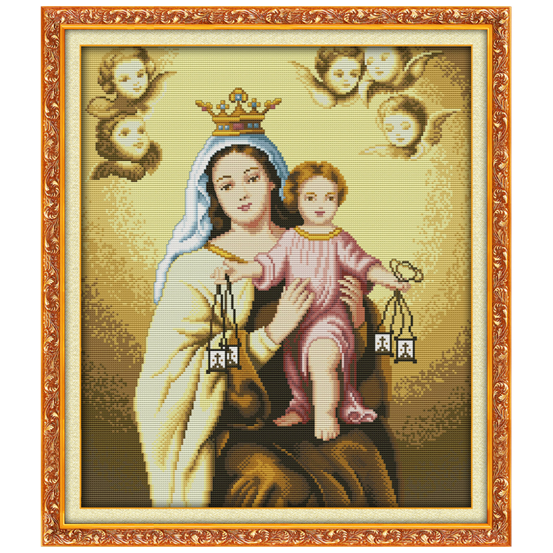 Holy Mother & Holy Son(1) Counted Cross Stitch 11CT Printed Canvas 14CT Cross-stitch Kits Chinese Embroidery Needlework(China (Mainland))