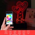 LED 3D Light Heart USB Bluetooth Speaker Night Light Music Table Lamp as Home Decor RGB