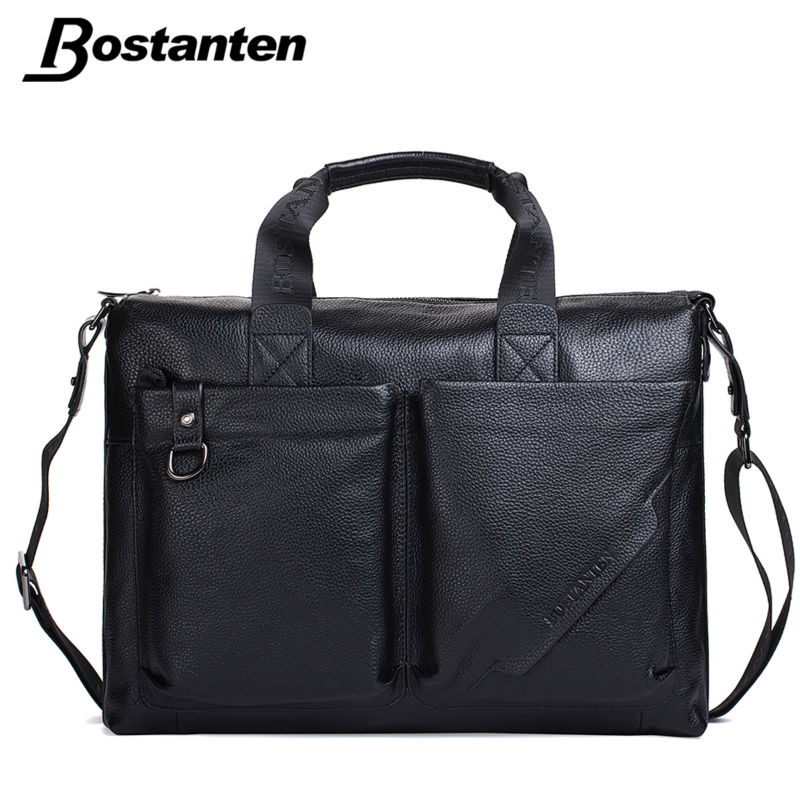 Bostanten 2016 New Quality Luxury Famous Brand Genuine Leather Men Briefcase Messenger Bags Business Causal Laptop Mens Handbag(China (Mainland))